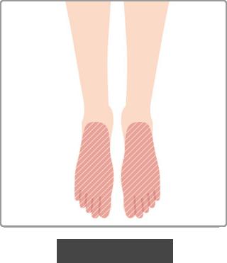 脱毛 部位 足の甲と指