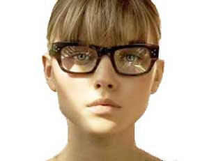 メガネ 前髪で隠す