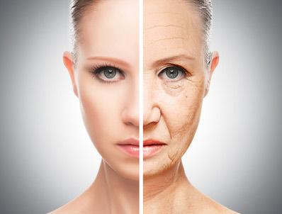 若い顔と年を取った顔の比較写真