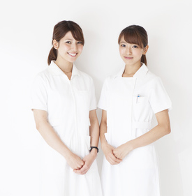 Two women nurses portrait