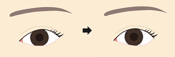 タレ目変化イメージ