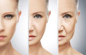 顔の老化イメージ