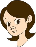 豚鼻のイラスト