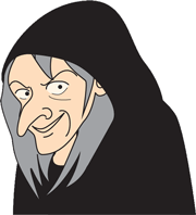 魔女-鼻整形 イラスト