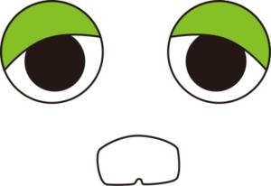 ガチャピンの目