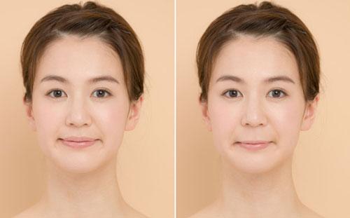 鼻の下の長さが違う女性