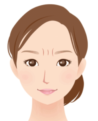 眉間のしわのイメージ