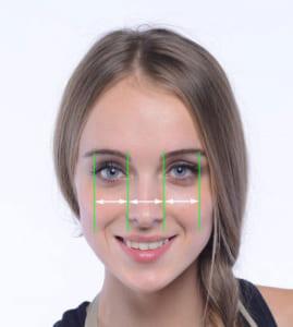 小鼻の理想的な幅