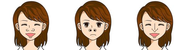 表情による鼻の動きのイメージ