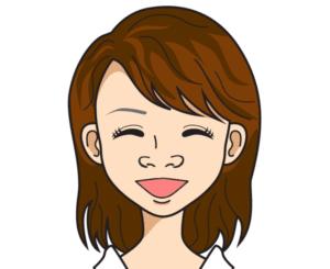 笑うと小鼻が横に広がる人のイメージ