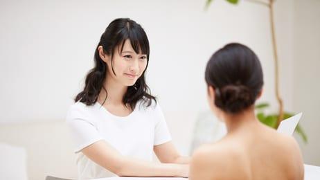 美容のカウンセリング